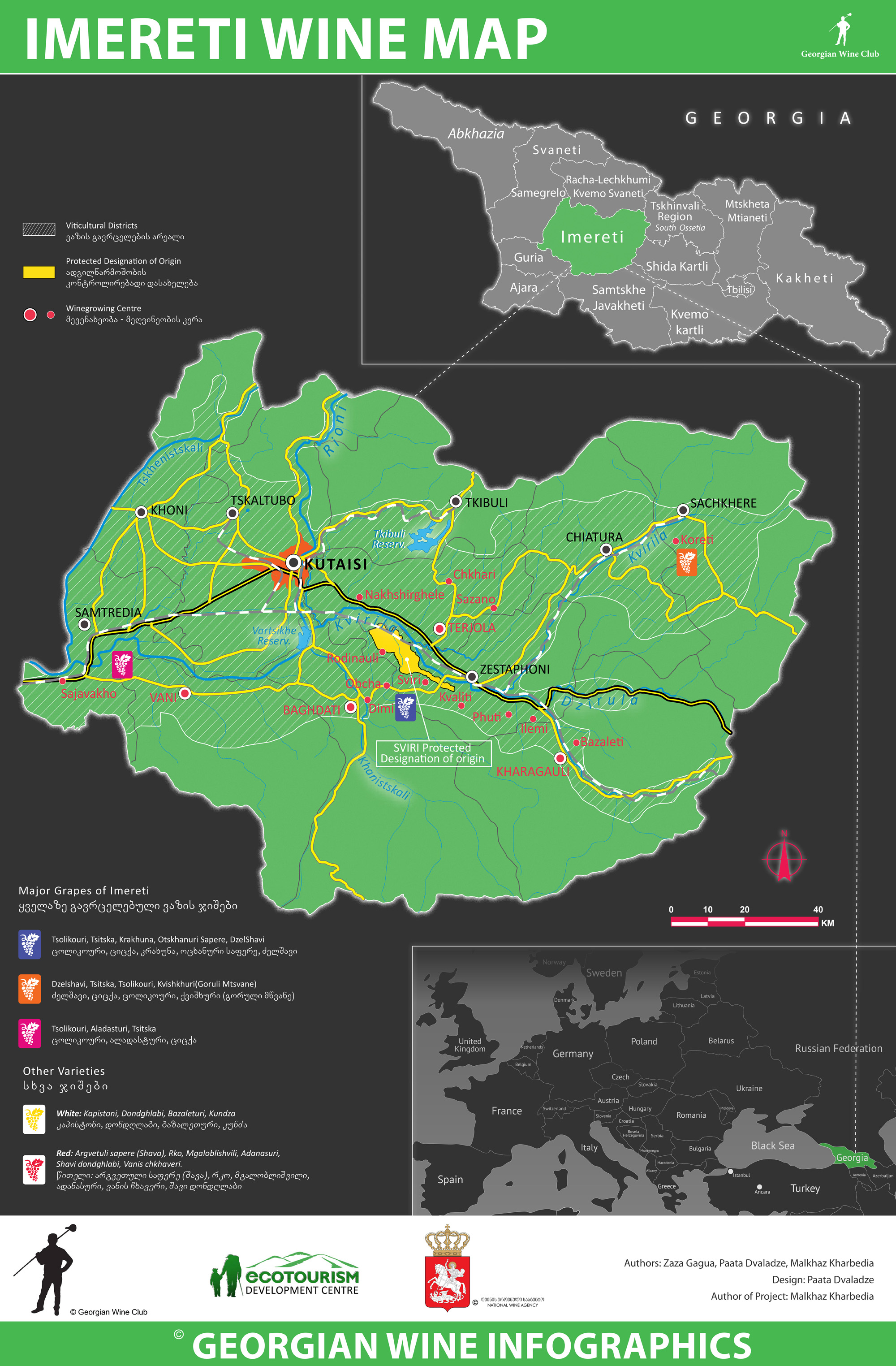 Wine Infographics Marani - Georgia kakheti map